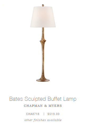 Bates Sculpted Buffet Lamp