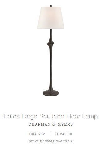Bates Large Sculpted Floor Lamp