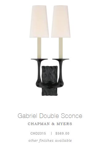 Gabriel Double Sconce