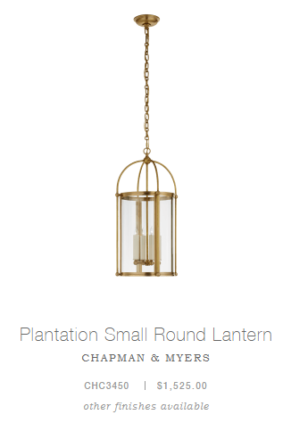 Plantation Small Round Lantern
